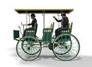 Vintage electric car 3d model