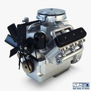 V6 유형 엔진 v 1 3d model