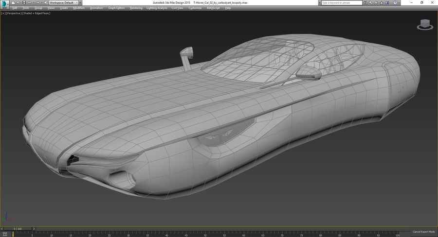 \\ T // Hover Car 02 royalty-free 3d model - Preview no. 11