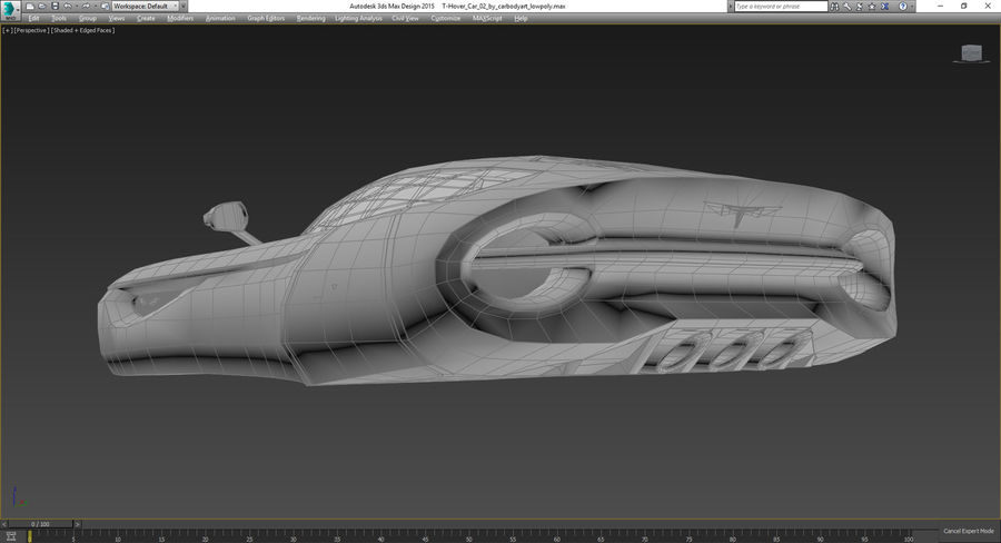 \\ T // Hover Car 02 royalty-free 3d model - Preview no. 13