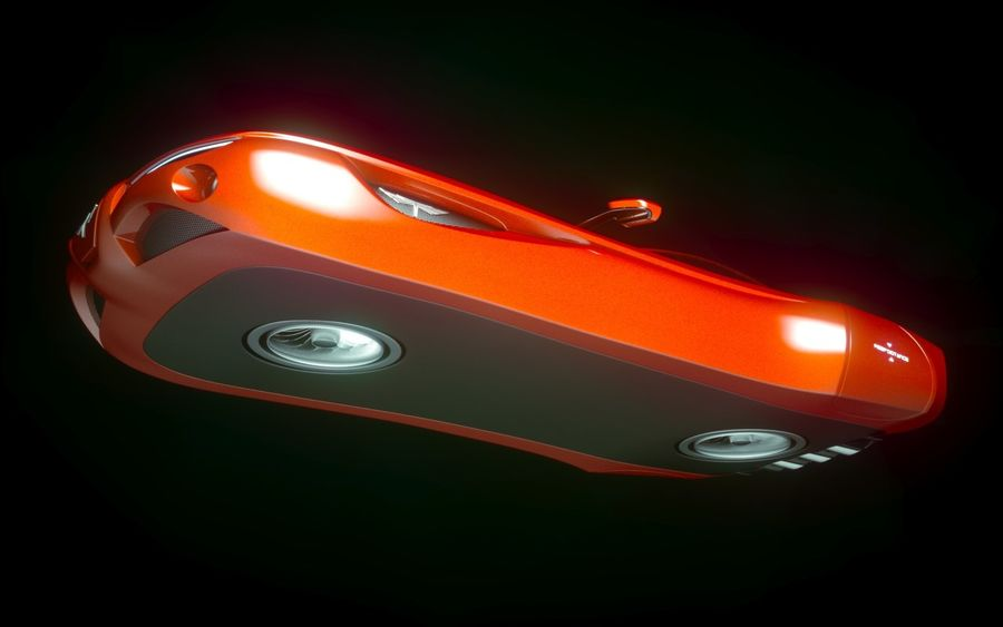 \\ T // Hover Car 02 royalty-free 3d model - Preview no. 10