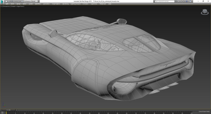 \\ T // Hover Car 02 royalty-free 3d model - Preview no. 12
