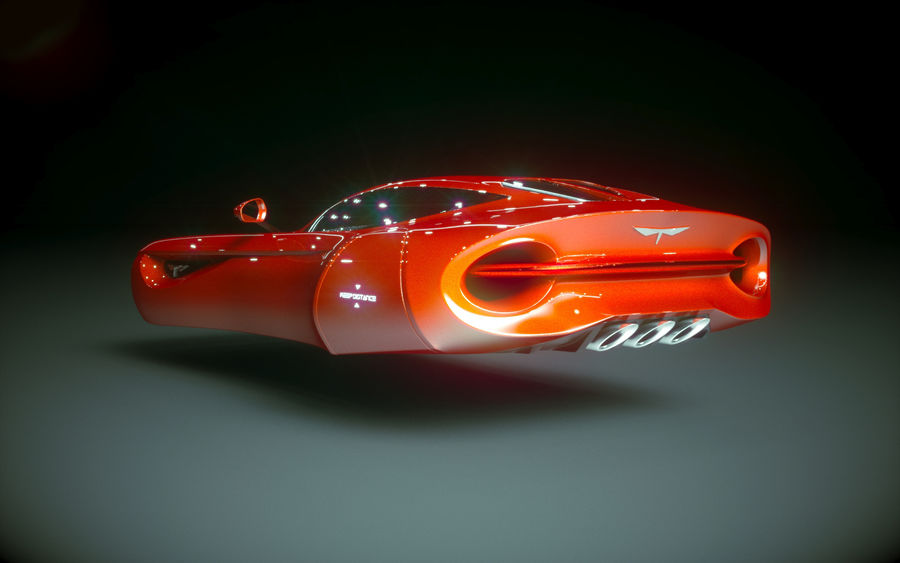 \\ T // Hover Car 02 royalty-free 3d model - Preview no. 9