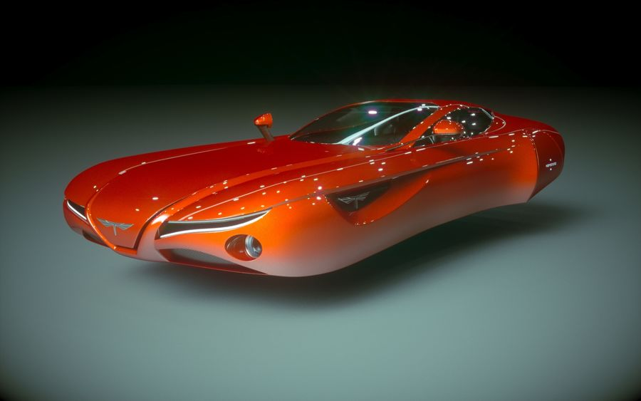 \\ T // Hover Car 02 royalty-free 3d model - Preview no. 2