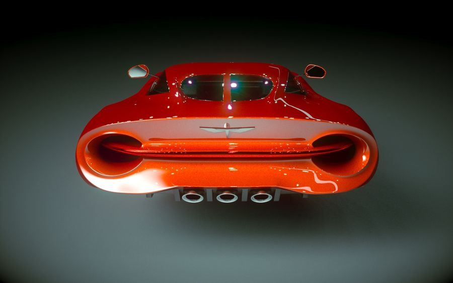 \\ T // Hover Car 02 royalty-free 3d model - Preview no. 7