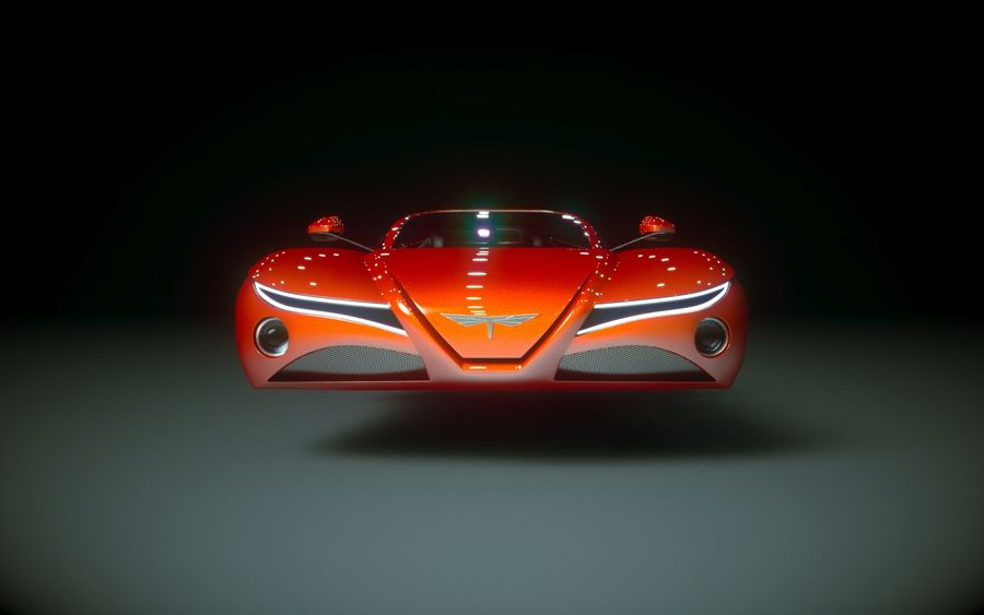 \\ T // Hover Car 02 royalty-free 3d model - Preview no. 3