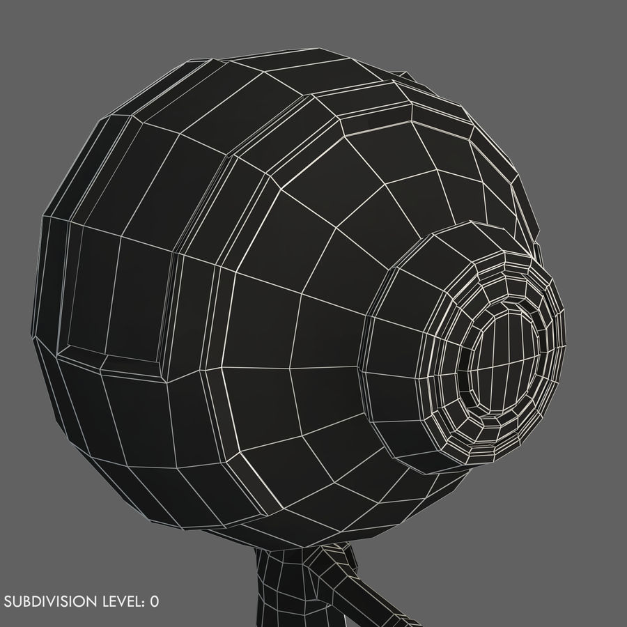 Space Robot royalty-free 3d model - Preview no. 11