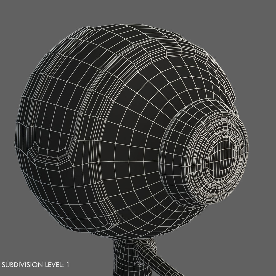 Space Robot royalty-free 3d model - Preview no. 19