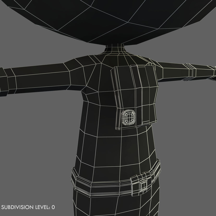 Space Robot royalty-free 3d model - Preview no. 13