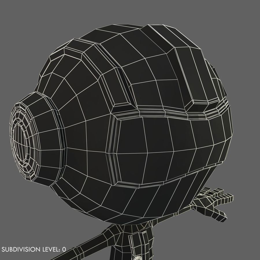 Space Robot royalty-free 3d model - Preview no. 10