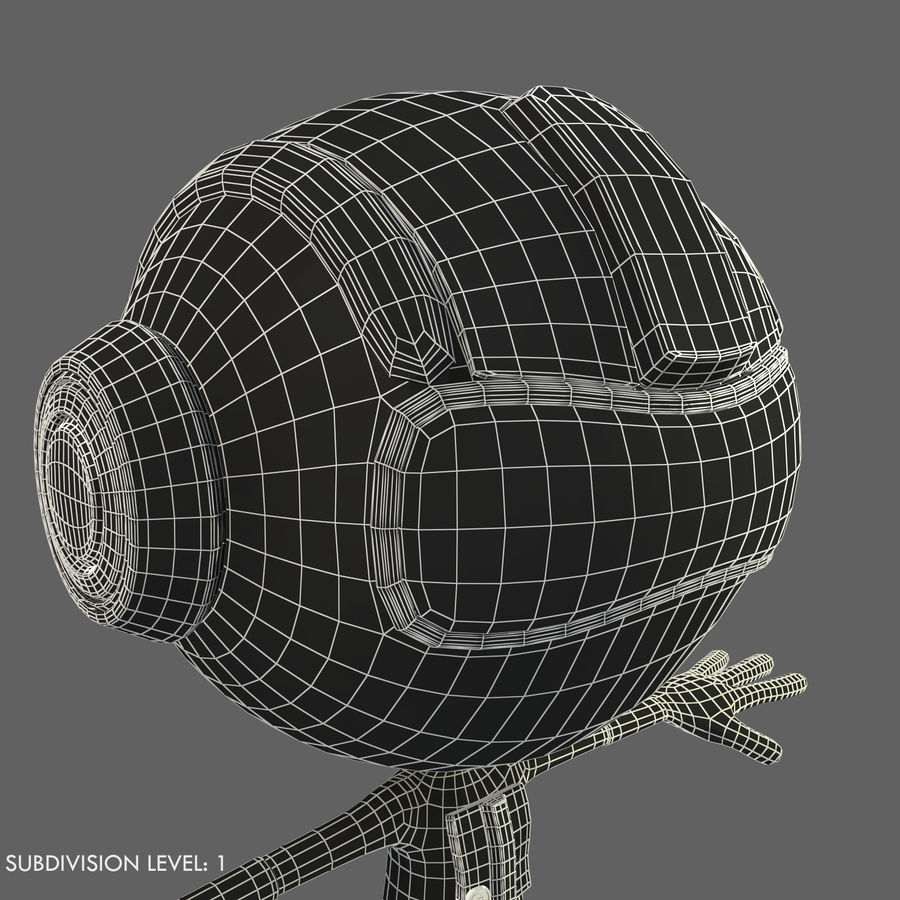 Space Robot royalty-free 3d model - Preview no. 18