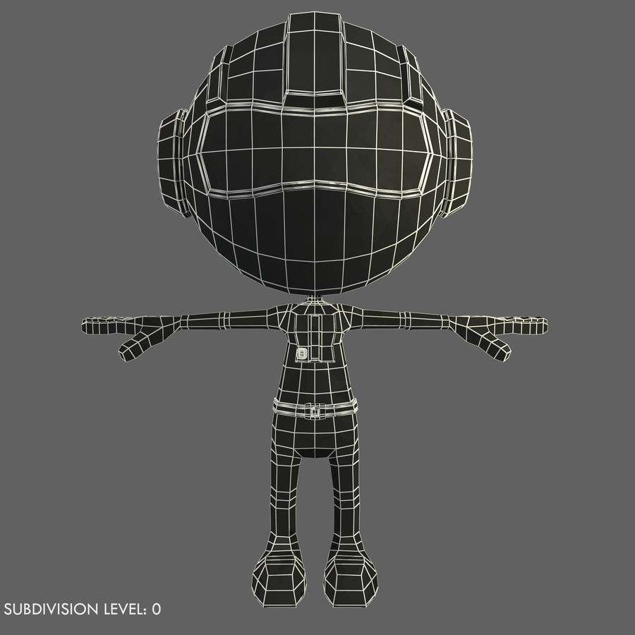 Space Robot royalty-free 3d model - Preview no. 9