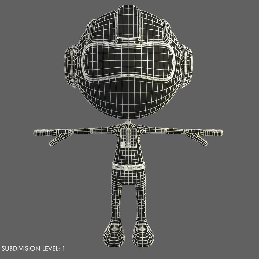 Space Robot royalty-free 3d model - Preview no. 17
