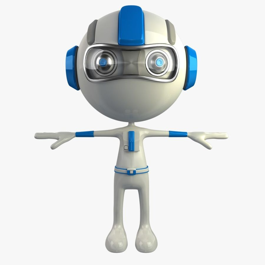 Space Robot royalty-free 3d model - Preview no. 1