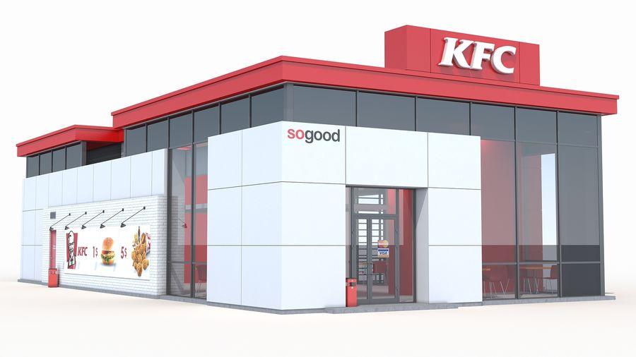 KFC restaurant 3 royalty-free 3d model - Preview no. 4