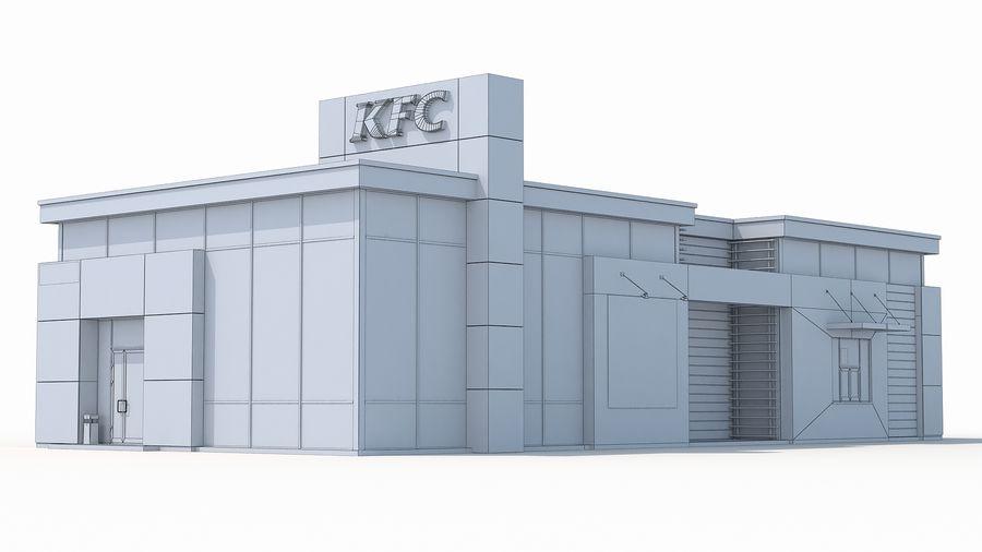 KFC restaurant 3 royalty-free 3d model - Preview no. 7