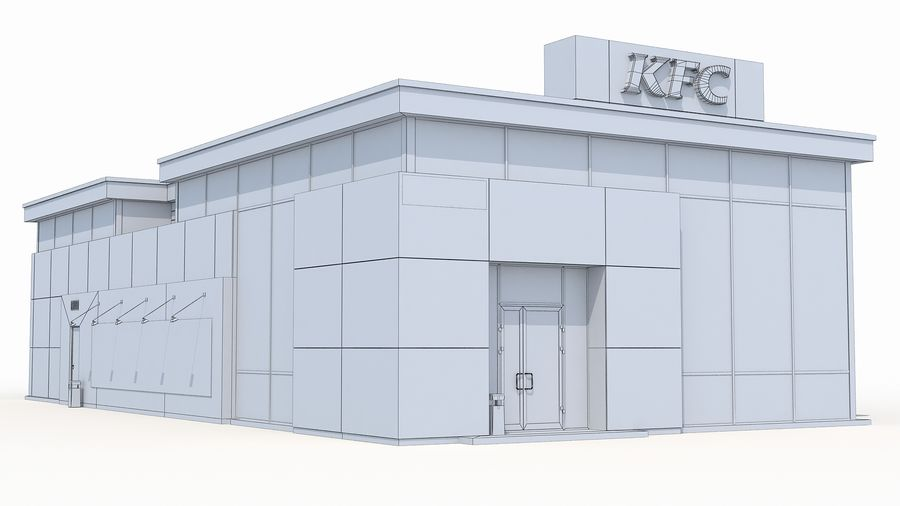 KFC restaurant 3 royalty-free 3d model - Preview no. 10