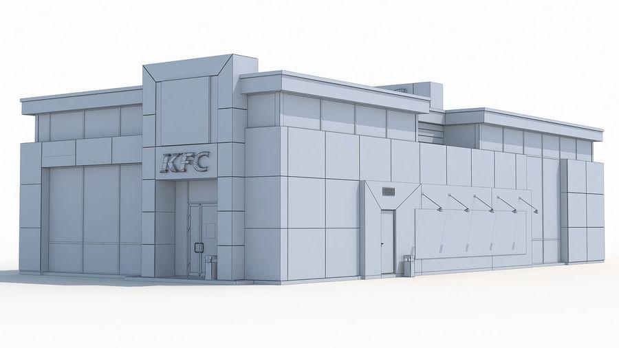 KFC restaurant 3 royalty-free 3d model - Preview no. 9
