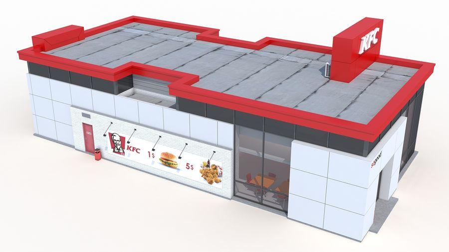 KFC restaurant 3 royalty-free 3d model - Preview no. 5