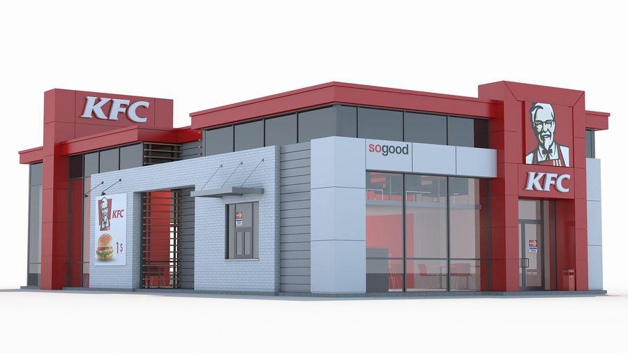 KFC restaurant 3 royalty-free 3d model - Preview no. 2
