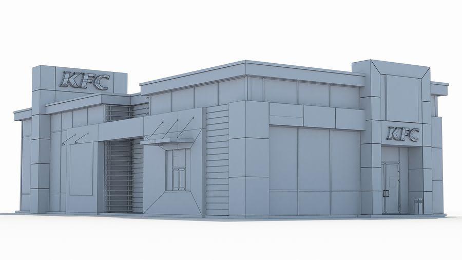 KFC restaurant 3 royalty-free 3d model - Preview no. 8