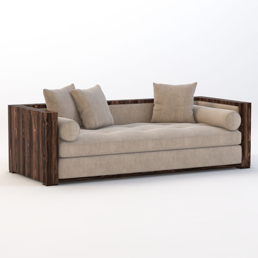 Divan Sofa royalty-free 3d model - Preview no. 2