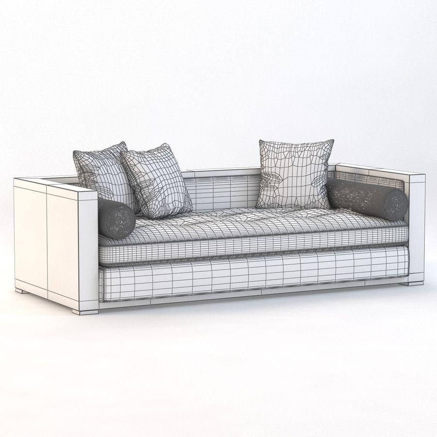 Divan Sofa royalty-free 3d model - Preview no. 9