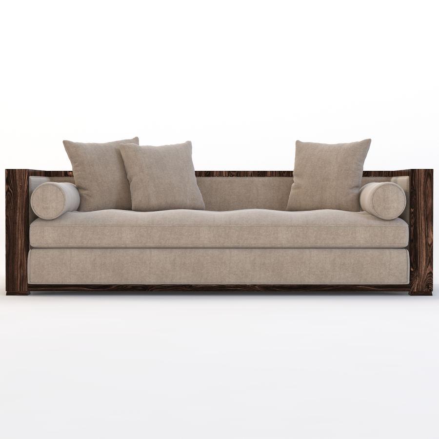 Divan Sofa royalty-free 3d model - Preview no. 8