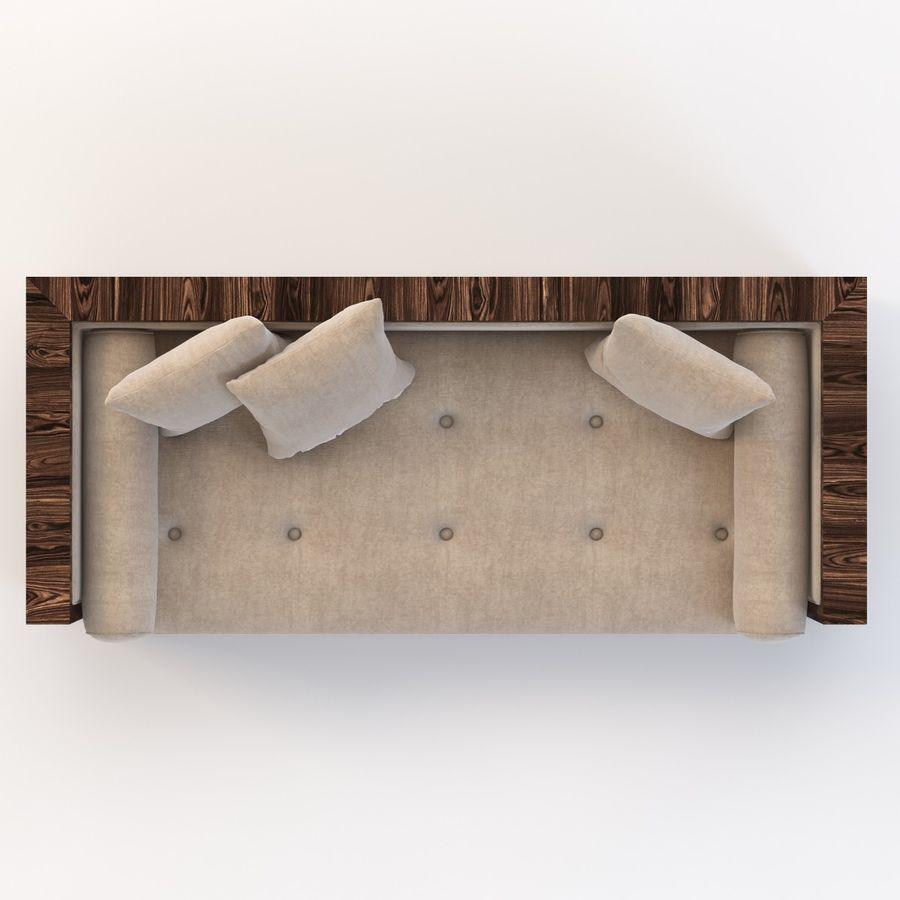 Divan Sofa royalty-free 3d model - Preview no. 7