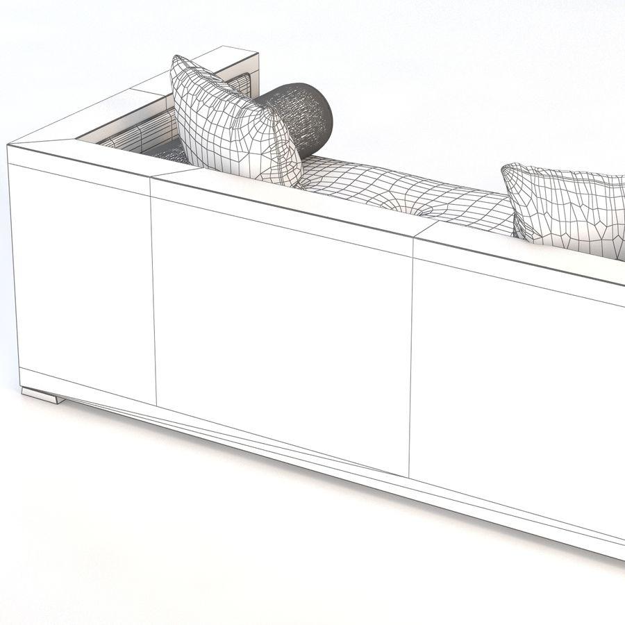 Divan Sofa royalty-free 3d model - Preview no. 10