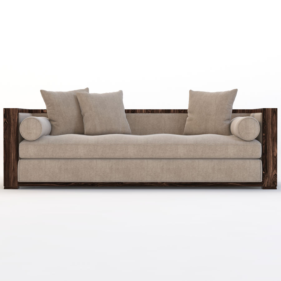 Divan Sofa royalty-free 3d model - Preview no. 8