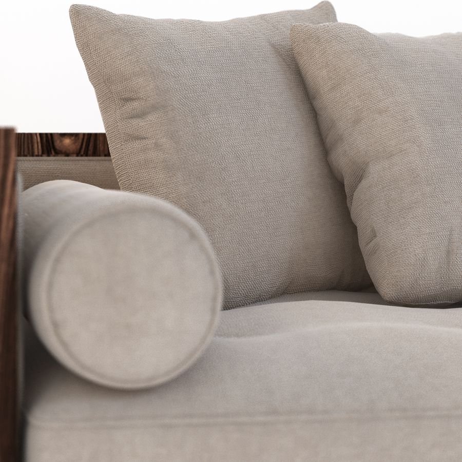 Divan Sofa royalty-free 3d model - Preview no. 6