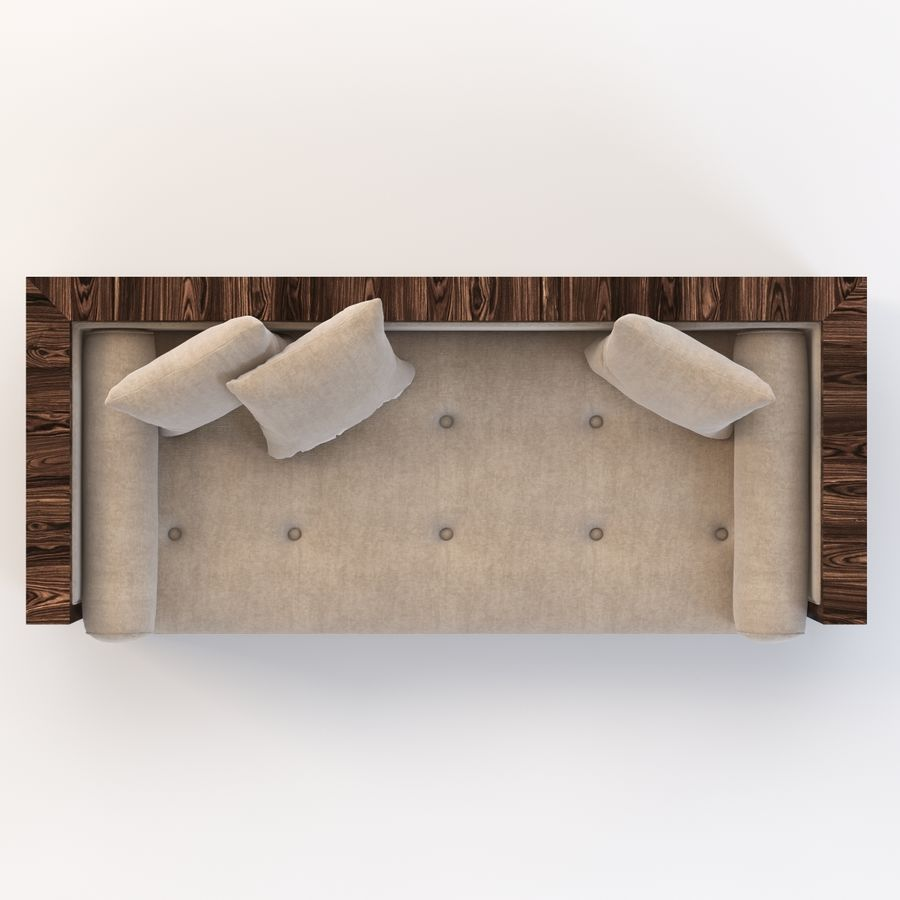 Divan Sofa royalty-free 3d model - Preview no. 7