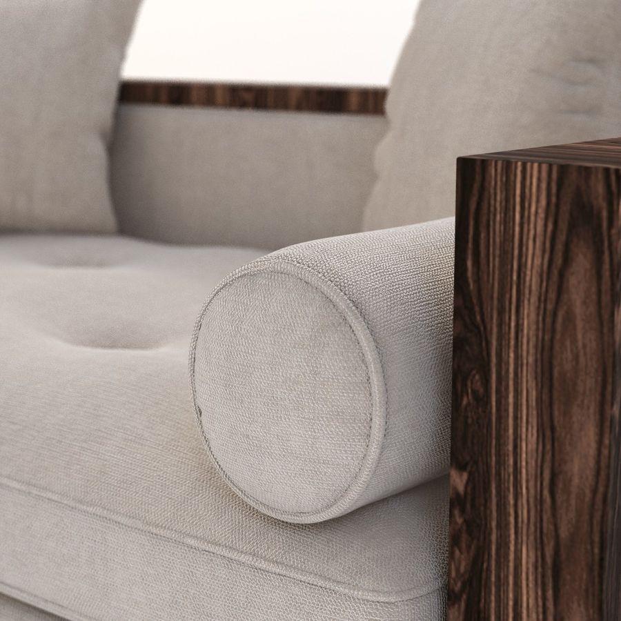 Divan Sofa royalty-free 3d model - Preview no. 5