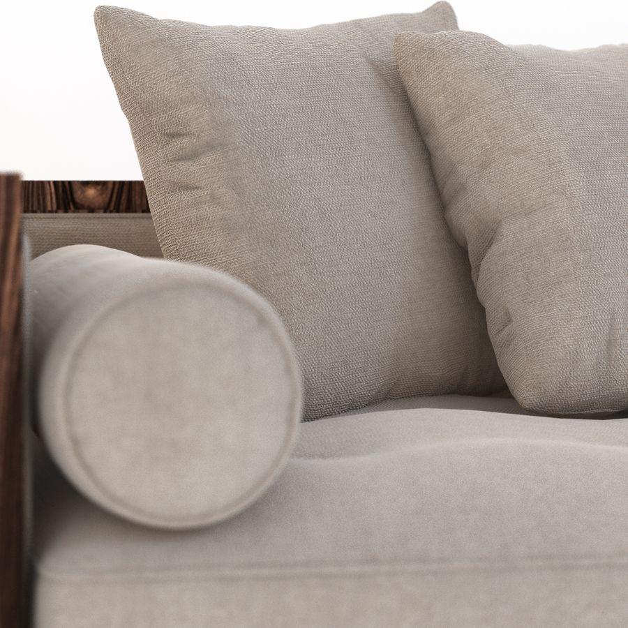 Divan Sofa royalty-free 3d model - Preview no. 6