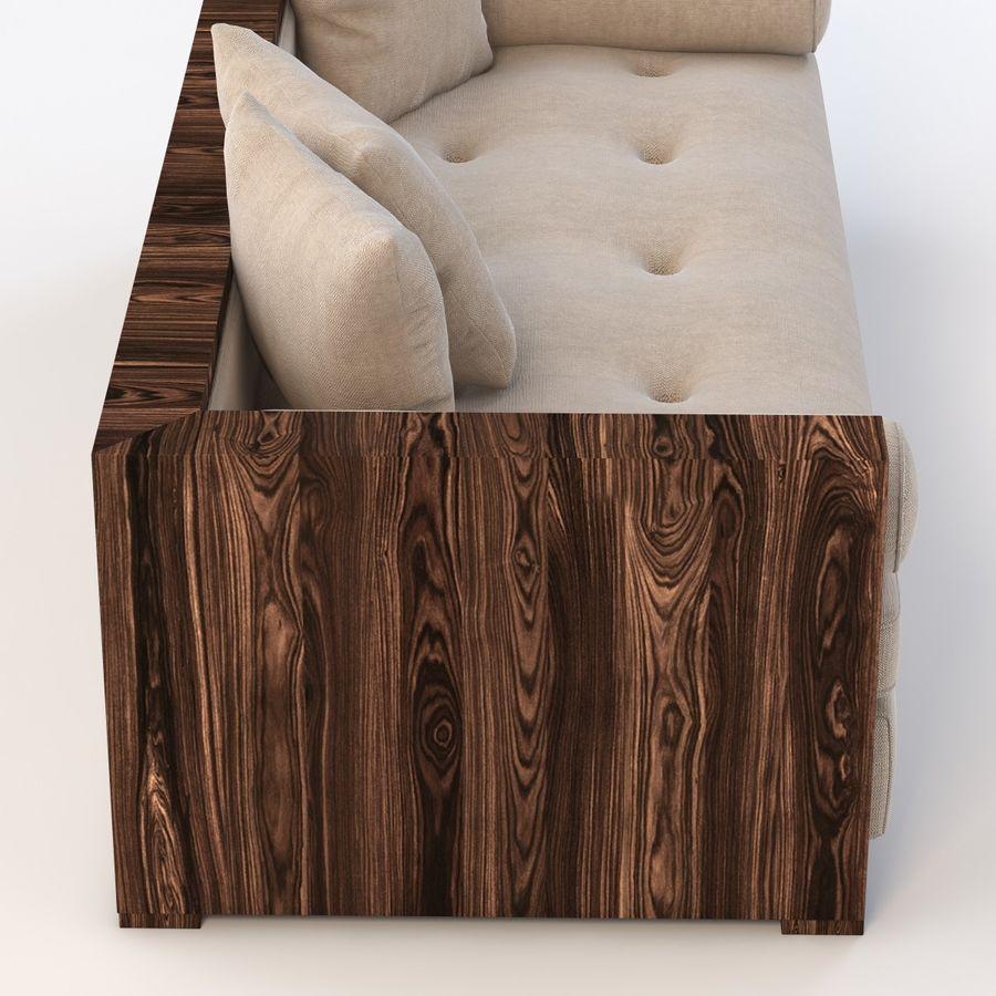 Divan Sofa royalty-free 3d model - Preview no. 3
