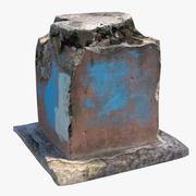 コンクリート柱 3d model