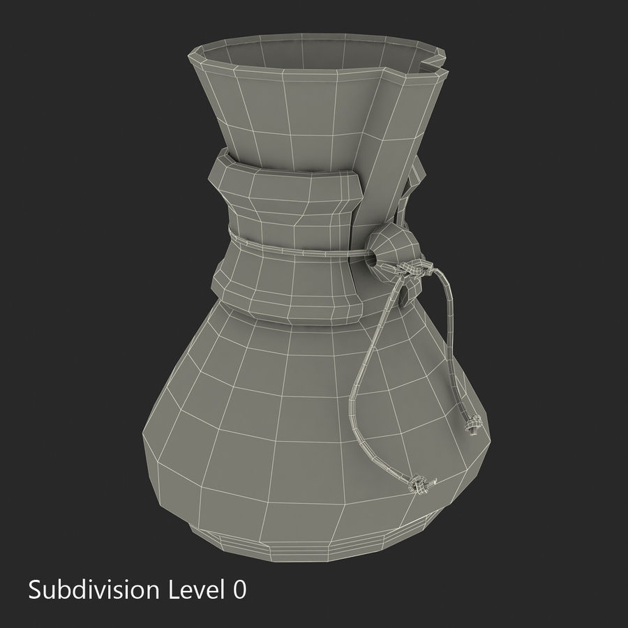 Glass Coffee Carafe royalty-free 3d model - Preview no. 17