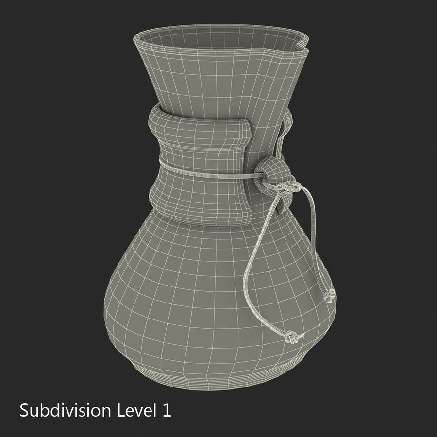 Glass Coffee Carafe royalty-free 3d model - Preview no. 18