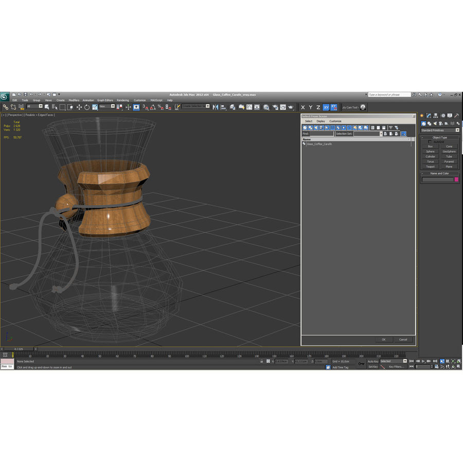 Glass Coffee Carafe royalty-free 3d model - Preview no. 21