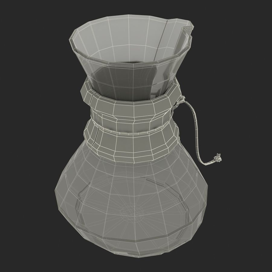 Glass Coffee Carafe royalty-free 3d model - Preview no. 25