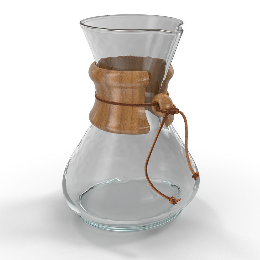 Glass Coffee Carafe royalty-free 3d model - Preview no. 2