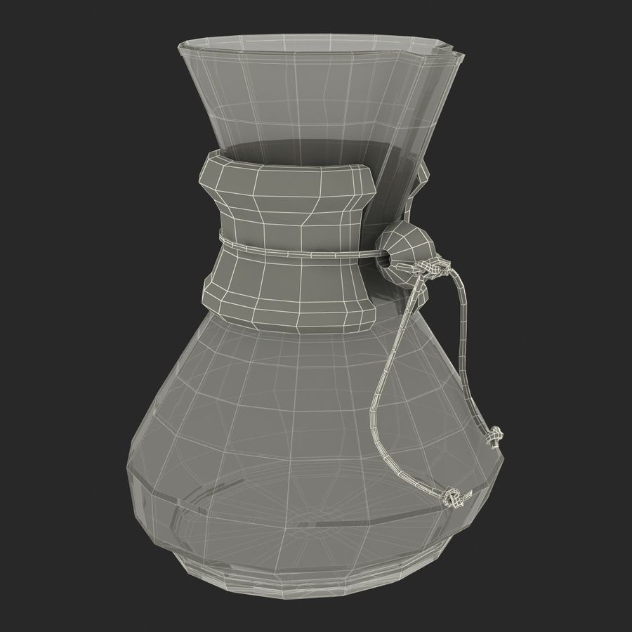Glass Coffee Carafe royalty-free 3d model - Preview no. 22