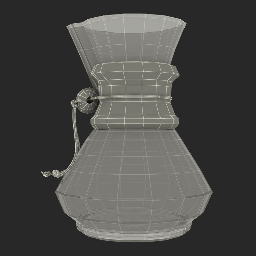 Glass Coffee Carafe royalty-free 3d model - Preview no. 24