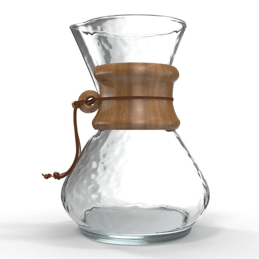 Glass Coffee Carafe royalty-free 3d model - Preview no. 5