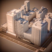 HOTEL and CITY BLOCK 3d model