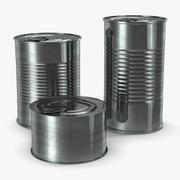 ブリキ缶セット 3d model