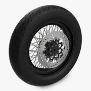 Motorcycle Front Wheel 3d model
