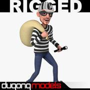 Rigged Cartoon Thief 3d model