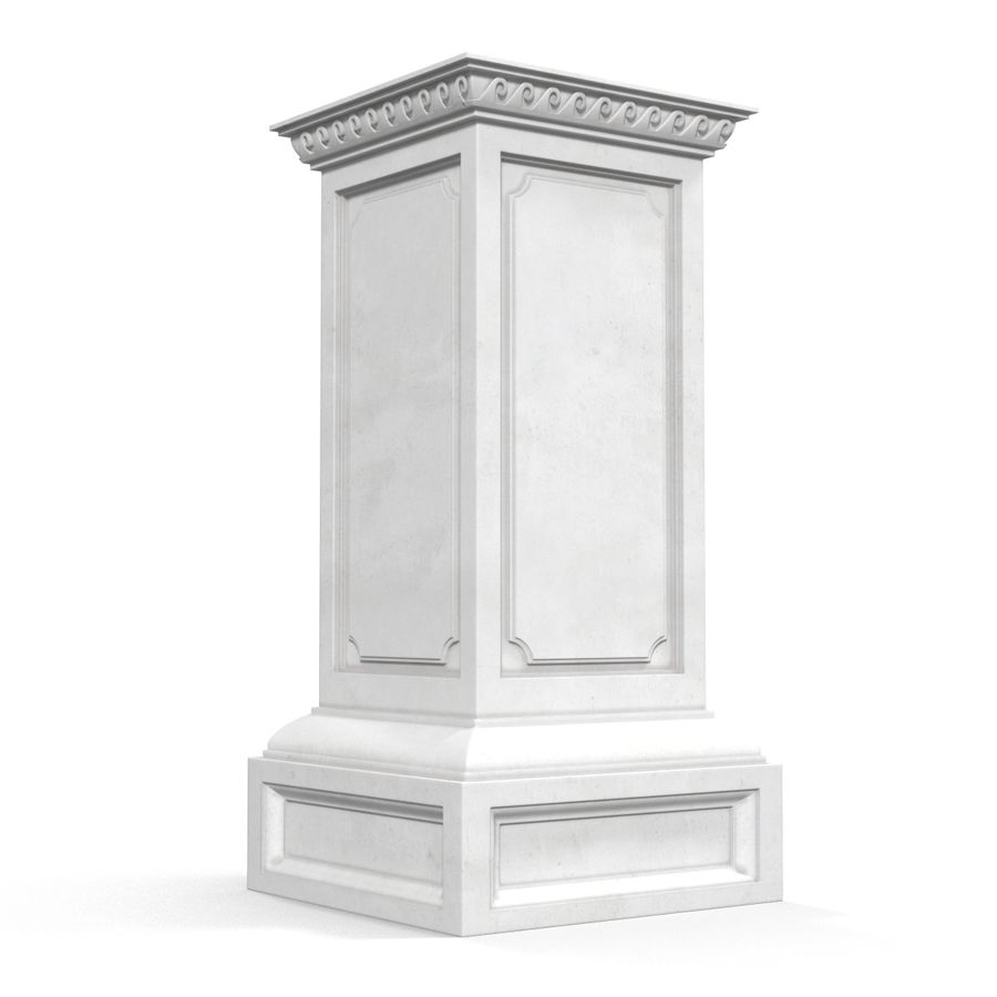 Column Base Greco Roman 2 royalty-free 3d model - Preview no. 4